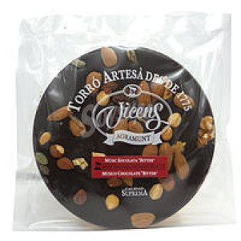 Vicens Torta de chocolate bitter con frutos secos Tableta 250 g