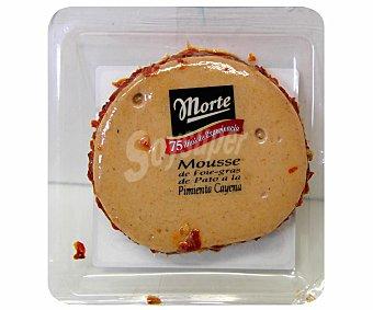 Morte Mousse de foie gras de pato con chile cayena precortado 80g
