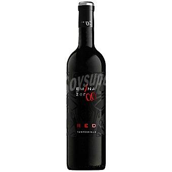 Emina ZER0,0 refresco de vino tinto tempranillo sin alcohol sin calorías botella 75 cl 75 cl