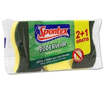Spontex Estropajo Fibra Verde con Esponja 1 Unidad