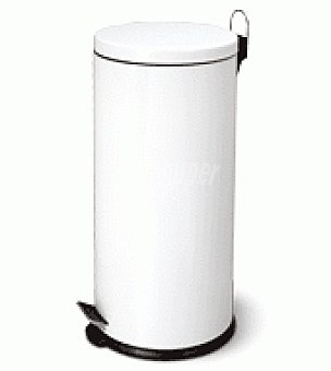 Carrefour Home Cubo basura hierro blanco 30L