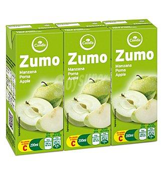 Condis Zumo manzana Pack 3 uni