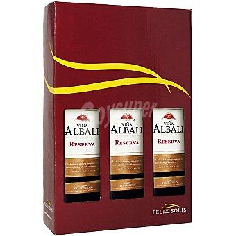Viña Albali Vino tinto Reserva D.O. Valdepeñas Estuche 3 botellas 75 cl
