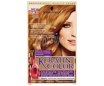 Keratin Color Schwarzkopf Tinte nº 7.3 rubio dorado coloración permanente de cuidado  caja 1 unidad