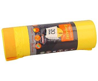 Auchan Bolsas de basura amarilla con autocierre capacidad 30 litros
