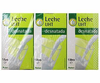 Productos Económicos Alcampo Leche desnatada Pack de 6 unidades de 1 litro