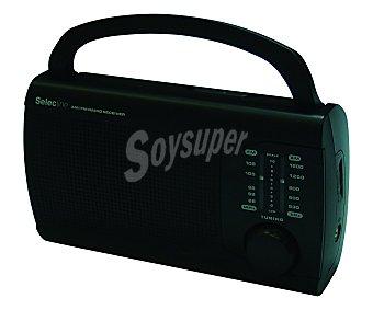 SELECLINE PR201 Radio de sobremesa 841642 (producto económico alcampo), analógica, altavoz integrado