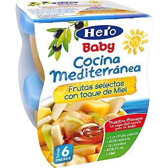 Hero Baby Tarrito frutas selectas con toque de miel Cocina Mediterránea pack 2x200 g estuche 400 g