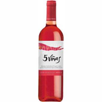 Cinco Viñas Vino Rosado de mesa Botella 75 cl