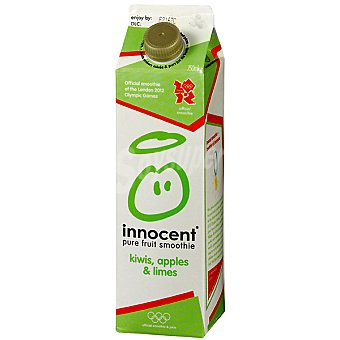 INNOCENT Pure fruit smoothie zumo suave de kiwi, manzana y lima Envase 750 ml