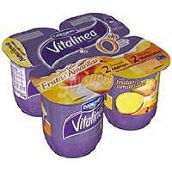 Vitalínea Danone Vitalínea con frutas amarillas Pack 4x125 g