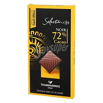 Carrefour Selección Chocolate negro 72% Carrefour Selección 80 g