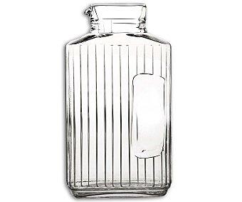 LUMINARC Botella para refrescos y agua con rebaje para fácil agarre modelo Quadro, con capacidad de 2 litros y fabricada en vidrio 1 Unidad