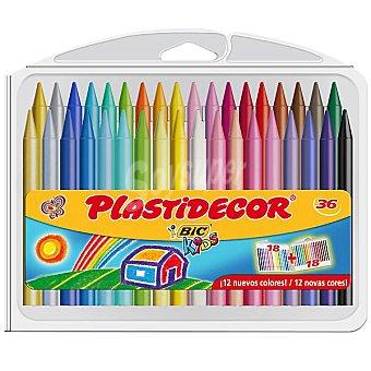 Plastidecor Bic Estuche con 36 ceras de colores 36 unidades