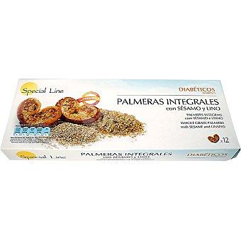 SPECIAL LINE Especial Diabéticos Palmeras integrales con sésamo y lino 12 unidades envase 185 g 12 unidades