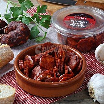 Juan Luna Chorizo sarta picante loncheado Juan Luna bote snack 120 g
