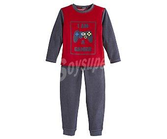 In Extenso Pijama largo de niño de terciopelo talla 4