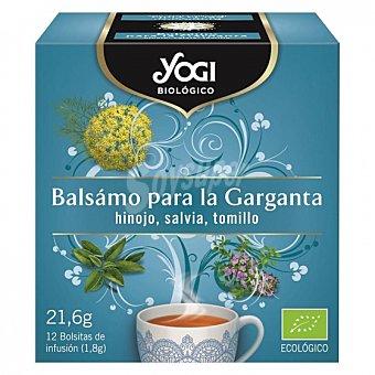 Yogi Tea Infusión bálsamo para la garganta en bolsitas ecológica 12 ud 12 ud