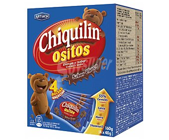 Chiquilín Artiach Galletas de cereales ositos sabor chocolate 160 g