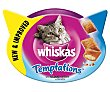 Temptations snack para gatos sabor salmón Tarrina 60 g Whiskas