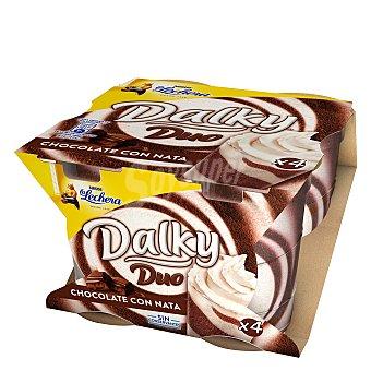 La Lechera Nestlé Copa de chocolate y nata de nestlé Pack de 4 uds de 90 gr