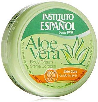 Instituto Español Crema corporal de aloe vera para piel normal formato viaje 50 ml