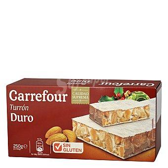Carrefour Turrón duro sin gluten 250 g