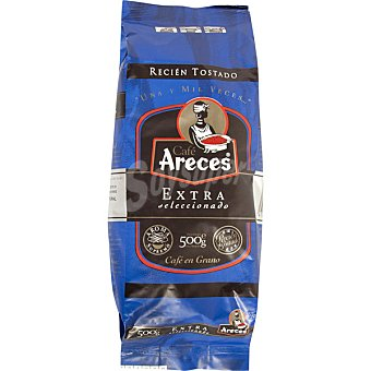 Areces Cafe natural extra de Colombia en grano Paquete 500 g