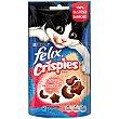 Snack Crispies para gatos adultos salmón y trucha Bolsa 45 g Purina Felix