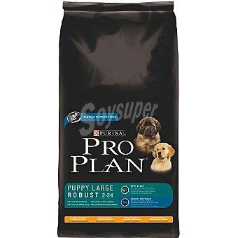 Pro Plan Purina Alimento especial para cachorros de raza grande y robustos con pollo y arroz Puppy Large Robust Bolsa 14 kg