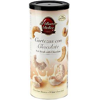 EL BARCO DELICE cortezas con chocolate blanco  envase 75 g