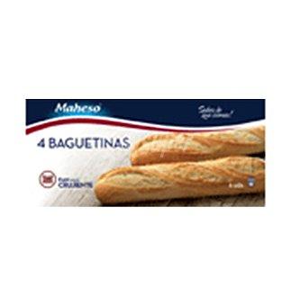 Maheso Baguetinas de pan congelado Pack 4 x 125 g