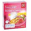 Barritas de cereales con yogur y fresa Estuche 126 gr DIA