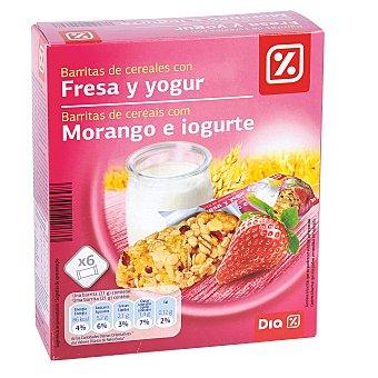 DIA Barritas de cereales con yogur y fresa Estuche 126 gr