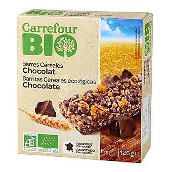 Carrefour Bio Barritas de cereales con chocolate ecológicas 125 G 125 g