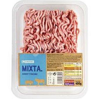 Eroski Picada mixta de cerdo y vacuno burger meat Bandeja 500g
