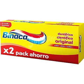 Binaca Pasta dentífrica amarilla triple pack ahorro 2 tubos de 75 ml