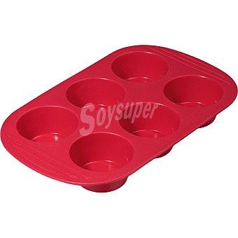 Unit Molde silicona muffins en color rojo
