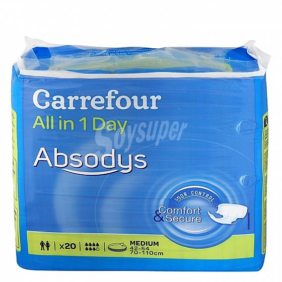 Carrefour Panal All In 1 Day Talla Mediana Absodys 20 Ud 20 Ud