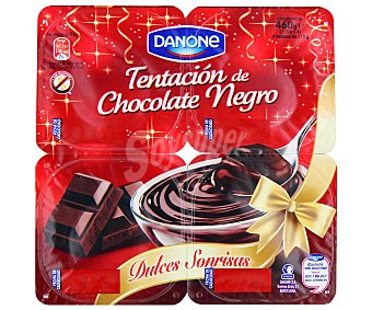 Danone Natillas chocolate negro 4 unidades de 115 g
