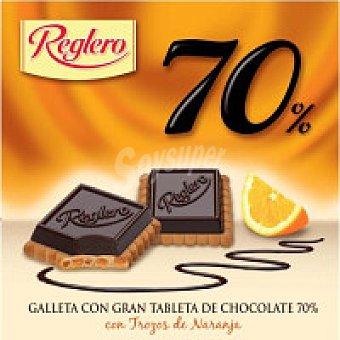 Reglero Galleta 70% de chocolate-naranja Caja 140 g