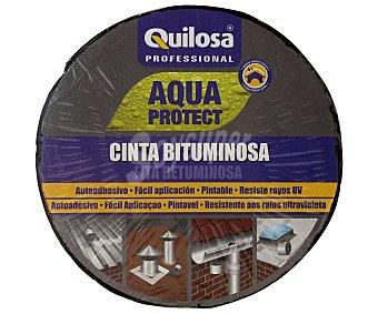 Quilosa Cinta autoadhesiva impermeabilizante bituminosa terracota, 10 metros 1 Unidad