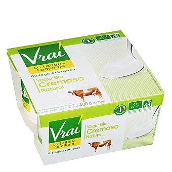 Vrai Yogur Bio cremoso natural Pack 4x100 g