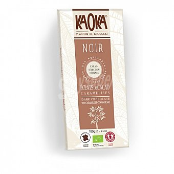 Chocolate negro con petitas de cacao caramelizadas ecológico Kaoka 100 G 100 g