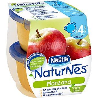 Naturnes Nestlé Tarrito de manzana 100% fruta sin azúcares añadidos +4 meses envase 260 g Pack 2 x 130 g