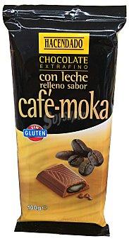 HACENDADO Chocolate leche relleno café y moka sin glúten Tableta de 100 g