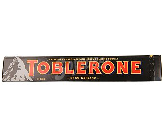 Toblerone Barrita de chocolate negro suizo con nougat de miel y almendras 100 gramos