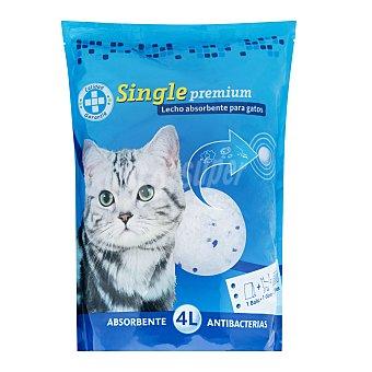 Single Arena gatos perlas sílice cristal Paquete de 4 litros