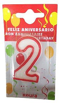 Roura Vela cumpleaños Nº 2 1 unidad