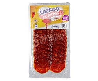 Auchan Chorizo de pavo en lonchas 100 gr